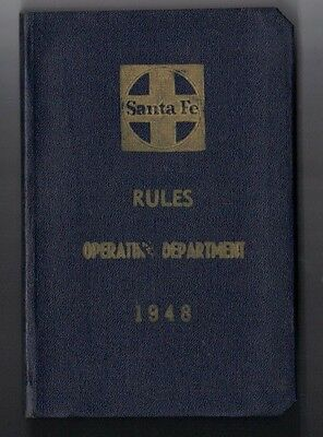 Santa Fe Rules Operating Department Manual 1948 W Update Pages Attached