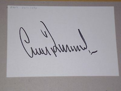Gary Pallister  Signed Card  Manchester United / Middlesbrough / England