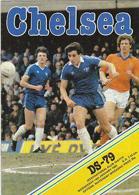 Football  Programme  -  Chelsea  V  Ds-79  ( Holland )  -  14  Jan  1981