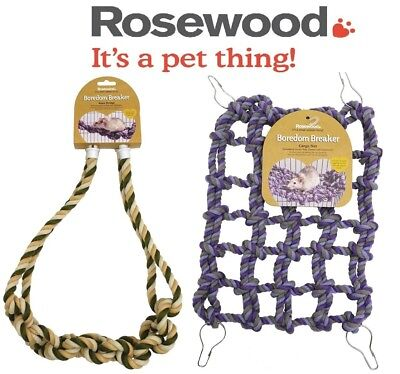 Rosewood Boredom Breaker Rope Bridge/rat Cargo Net, Hanging Climbing Toy