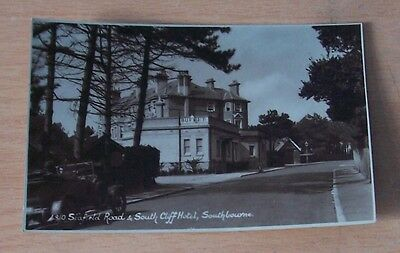 Real Photo Card Seafield Road & Southcliff Hotel,southbourne,bournemoth,dorset