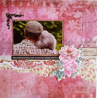 12 x 12 Handmade Scrapbook Page - Single Moments Make Great Memories