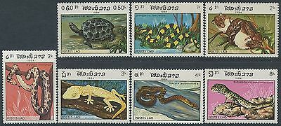 LAOS N°597/603** Reptiles, serpent, tortue 1984 turtle, snake.. MNH