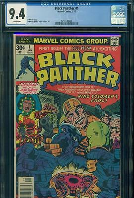 BLACK PANTHER #1 CGC 9.4 NM NEAR MINT WHITE PAGES Marvel Comics JACK KIRBY KEY!