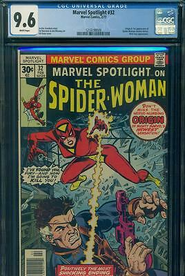 MARVEL SPOTLIGHT #32 CGC 9.6 NM+ WHITE 1st SPIDER-WOMAN Origin MARVEL COMICS KEY