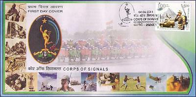 India - 2011 Corps Of Signals - 1V - Fdc