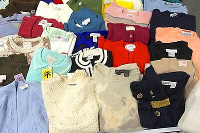 Huge 60s-80s Sweater Lot 42 M L Most NWT/ unworn  Designer Originals, John Meyer