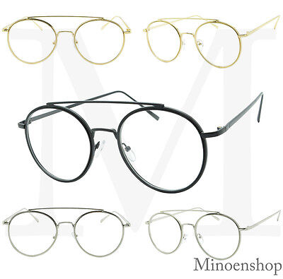 Round Lens Quality Frame Clear lens Fashion Glasses Men's Ladies Oval Celebrity