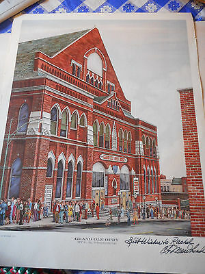 C G Morehead Grand Ole Opry 1973 Poster Print Autographed