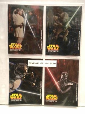 Star Wars Epsisode three movie duracell batteries four card set