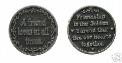 Friendship A Friend Loves At All Times Pocket Token - set of 2