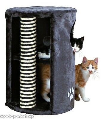 NEW Dino Cat Tower Plush Sisal Cat Scratching Post Activity Centre Grey