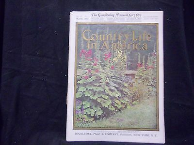 1905 March Country Life In America Magazine - Great Cover & Ads - St 1379