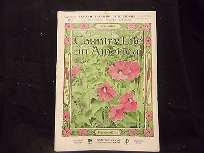 1905 September Country Life In America Magazine - Great Cover & Ads - St 1385