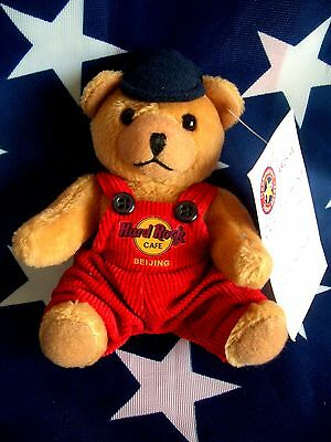 HRC Hard Rock Cafe Beijing Peking Key Chain Bear Beara Teddy Red 4`` 14cm