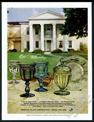 1971 Imperial Glass Old Williamsburg goblet plate etc photo vintage print ad