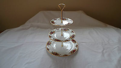 Royal Albert Old Country Roses 3-Tier  Cake Stand  EXCELLENT