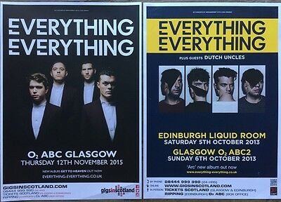 Everything Everything - 2 Rare UK Gig / Concert posters!
