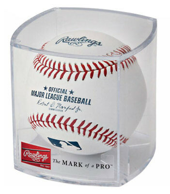 Rawlings Ball of Fame Baseball Display Cube Collectable Balls 1 Dozen Clear RBOF