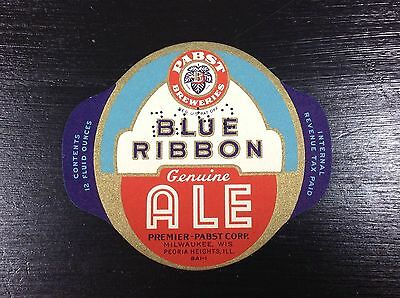 Pabst Blue Ribbon Ale Beer Label IRTP Milwaukee WI PBR