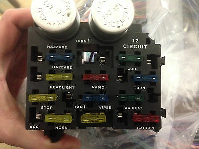 12 Circuit Wiring Harness Kit Hot Rod Chevy Color Coded Chevy Camaro Covair Nova