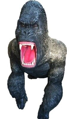 Angry Gorilla- King Kong Monkey Ape  Wild Zoo Statue - Free Ship - LM Treasures