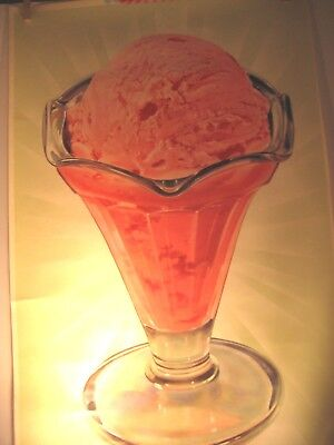 Vtg Strawberry Ice Cream In Sundae Glass Advertising Lithographs-12 Same-18X29