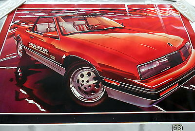 "Oldsmobile Calasi Official Pace Car Indy 500 1985 Dealership Poster 25"" X 38"""
