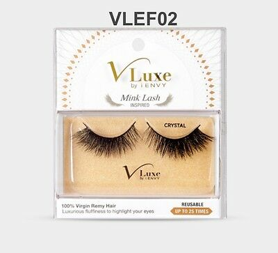 cbb7fd4a470 VLUXE by i ENVY MINK LASH INSPIRED CRYSTAL 100% VIRGIN RemyHair UseUpTo 25  times