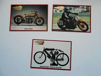 Indian Motorcycle three cards limited issued preview set 1990