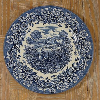 """17th Century England """"Red River"""" England Blue/White 7 3/4"""" Ironstone Salad Plate"""