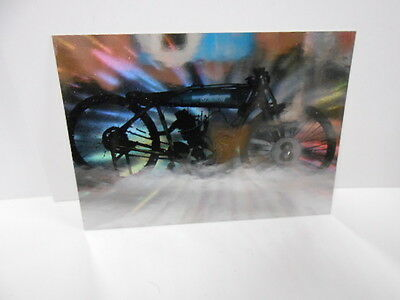 Indian Motorcycle gold stamped hologram promo card 1990