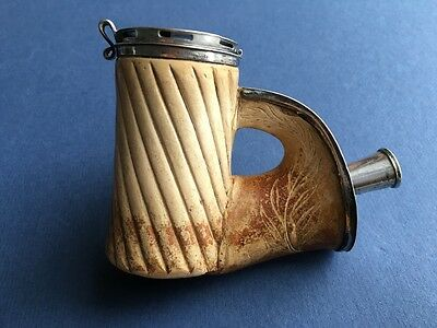62nd Regiment Of Foot Silver Mounted Hinged Lid 19th C Meerschaum Smoking Pipe