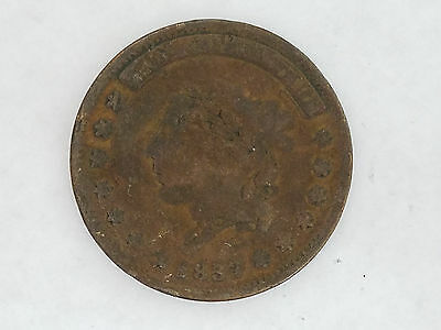 """1837 Hard Times Token """"Not One Cent For Tribute"""" *Z54 - 4636"""