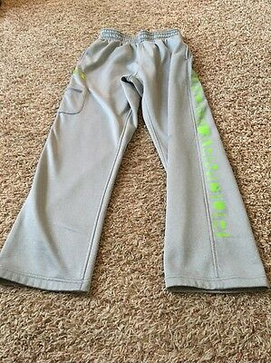 Under Armour Storm Gray Pants, Green Accents, Medium 3 Pockets