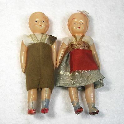 "Antique German celluloid dolls 4"" B4"