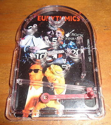 EURYTHMICS rare MINI PINBALL  collectible toy ARGENTINA premium Annie Lenox