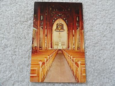 Interior, St. Mary's in the Mountains, Virginia City Nevada    Postcard