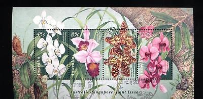 (936384) Flowers, Orchids, Joint Issue, Australia - cto used -