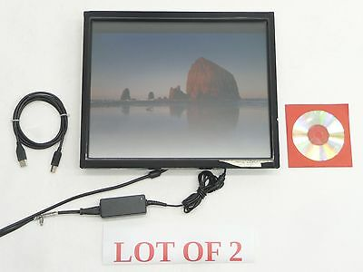 """Lot 2 Elo Intellitouch 15"""" Touchscreen Touch Monitor Et1740L-8Ckr-1-426-Hbf-G"""
