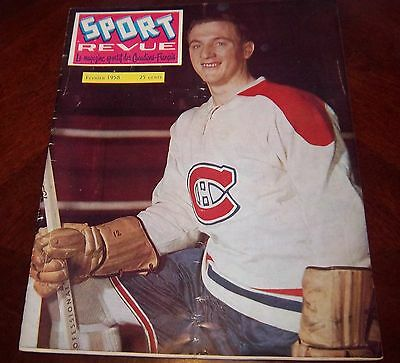 Sport Revue Hockey Magazine February 1958 Dickie Moore Montreal Canadians