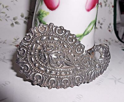 Early Vintage CINI Sterling Silver Spectacularly Designed Large Bird Brooch