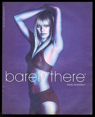 2001 Barely There lingerie bra panty woman photo vintage print ad