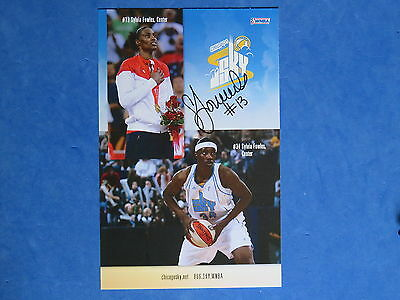 SYLVIA FOWLES #13 SIGNED 5.5 x 8.5 CHICAGO SKY PROMOTIONAL PHOTO