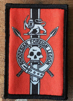 Rhodesian Foreign Legion Morale Patch Tactical Military USA Hook Badge Army Flag