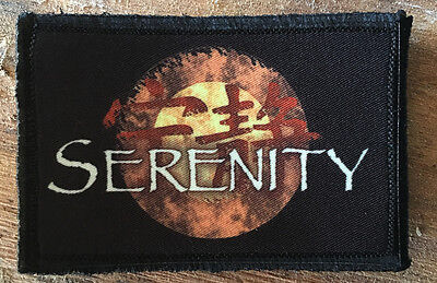 Serenity Logo Morale Patch Tactical ARMY Hook Military USA Badge Flag