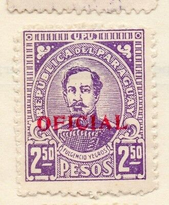 Paraguay 1935 Early Issue Fine Mint Hinged 2.50P. Optd 125066