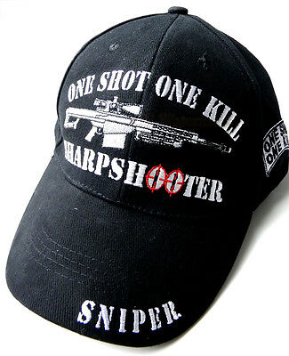 Us Army One Shot One Kill Sharpshooter Sniper Embroidered Baseball Cap Hat