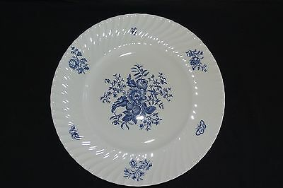 Royal Worcester England Blue Sprays Swirled Dinner Plate 10 1/2""