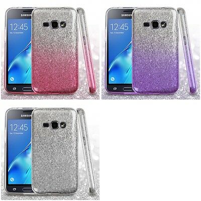 For Samsung Galaxy J1 2016 Amp 2 Glitter Hybrid TPU Gradient Hard Case Cover